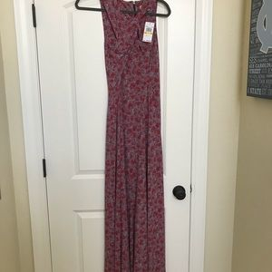 Michael Kors long Sangria cross strap dress